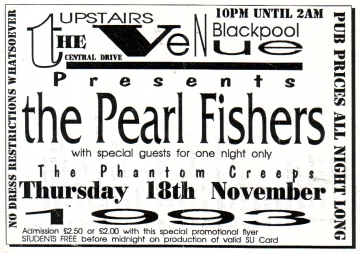 Flyer For The Venue 18/11/1993